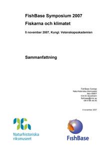 Fiskarna och klimatet - sammanfattning av symposium