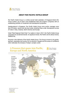 About Pan Pacific Hotels Group