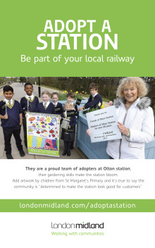 London Midland Adopt a Station posters