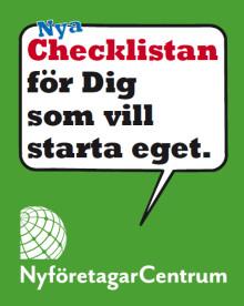 Checklistan för Dig som vill starta eget, med 64 tips.