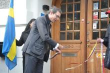 Franska ambassadören David Cvach inviger Franska Skolan Göteborg