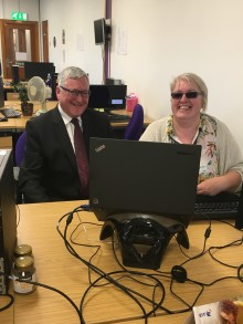 Rural Economy Minister visits BT's Thurso contact centre
