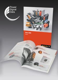 """Weidmüllers """"News 2009"""" i ny utgåva med en framgångsrik katalogdesign."""