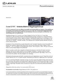Lexus LF-FC – bränslecellsdrivet flaggskeppskoncept