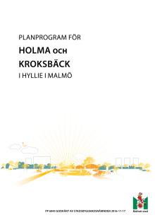 Planprogram för Holma och Kroksbäck