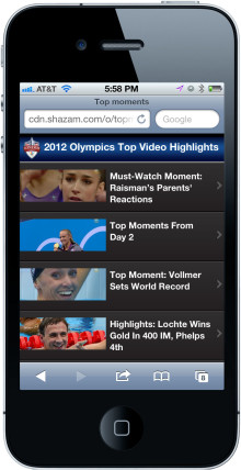 Historic Olympic Moments Drive Millions of Shazam Interactions