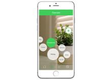 Styr belysningen med en app