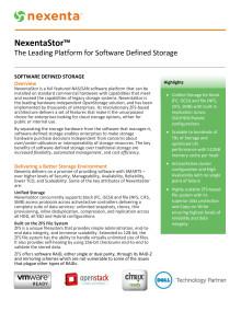 NexentaStor Datasheet