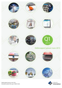 Delårsrapport januari-mars 2013. Inlandsinnovation AB
