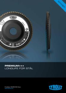 Produktblad Tyrolit Lamellslipeskive premium longlife stål