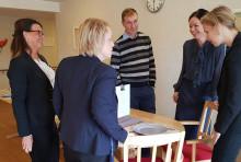 Goda samtal på Förenade Care Liljefors torg med Uppsala kommun och Svenskt Näringsliv