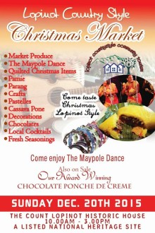 Historisk julemarked med lokale specialiteter på Trinidad