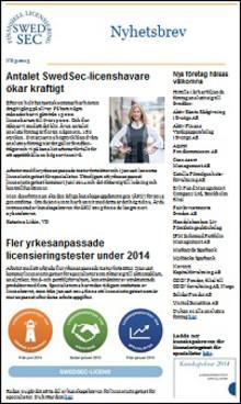 SwedSecs nyhetsbrev 3 – 2013