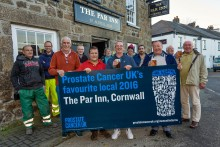 South Cornwall pub named Prostate Cancer UK's favourite local