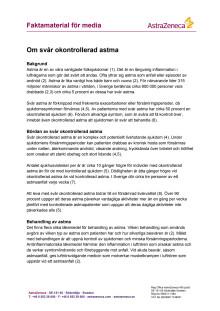 Om svår okontrollerad astma