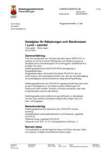 Tjänsteskrivelse Stenkrossen-Råbykungen