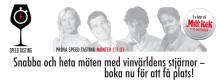 Snabba och heta möten med vinvärldens stjärnor - boka årets Speed Tasting nu!