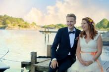 Ekologiskt skärgårdsbröllop - EcoBrides grundare Katharina Brunat har gift sig