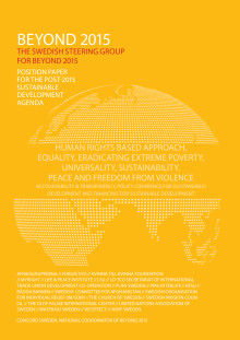 Position Paper for the post-2015 sustainable development agenda