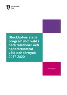 Stockholms stads Program mot våld i nära relationer och hedersrelaterat våld och förtryck