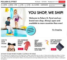 Europeisk e-handelssajt Polarn O. Pyret