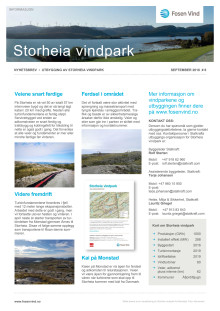 Nyhetsbrev Stoheia vindpark #6 - 2018