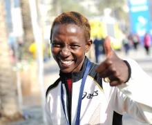 Isabellah sjua i Dubai Marathon 2013