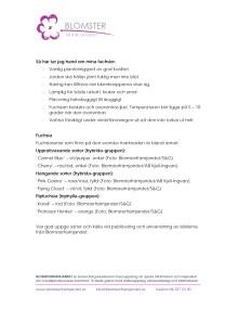 Sortinformation & skötselråd Fuchsia