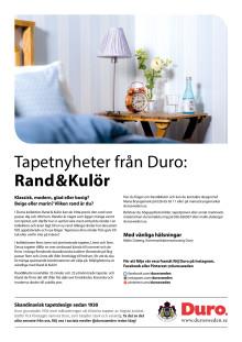 Pressmeddelande Rand&Kulör