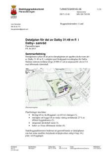 Tjänsteskrivelse - Detaljplan för ny skola i Dalby