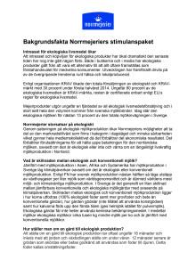 Bakgrundsfakta Norrmejeriers stimulanspaket