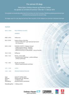 Invitasjon til seminar 11.2. med Rittal, Epla, Endress+Hauser og Phoenix Contact
