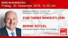 Bernd Rützel in der Bundestagsdebatte