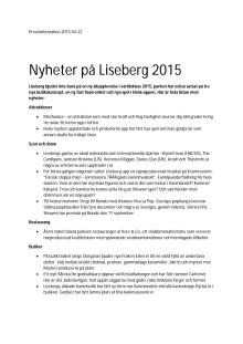 Fler nyheter på Liseberg 2015