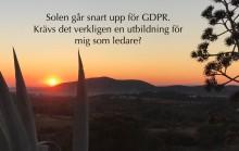 Certifierad Masterclass i GDPR för ledare. Varför och för vem?