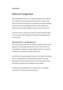Fakta om lungcancer