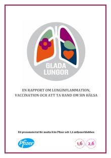 En rapport om lunginflammation, vaccination och att ta hand om sin hälsa