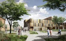 Första spadtaget för den nya vårdbyggnaden i Helsingborg