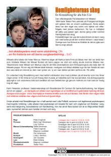 Information; Hemligheternas skog på Teater Pero