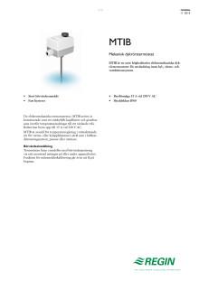 Produktblad för MTIB