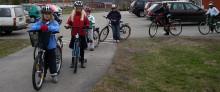 Elever på Pitholmsskolan går och cyklar mest