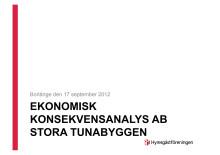 Ekonomisk analys Tunabyggen