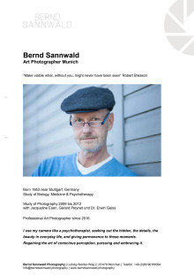 Biography and exhibitions of Bernd Sannwald