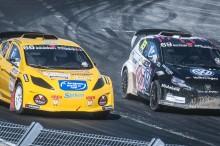 Santosh Berggren tog fjärdeplatsen i Supercar Lites RallyX.