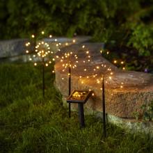 Lättplacerad trädgårdsbelysning som laddas av solen