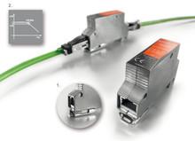 Överspänningsskydd från Weidmüller för Ethernet-applikationer.