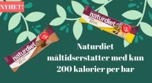 Nyhet! Naturdiet måltidserstatter med kun 200 kalorier per bar