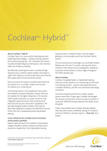 Cochlear Hybrid implantatsystem