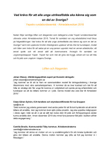 Löften för förbättrad integration för unga utrikesfödda - Almedalen 2018