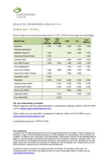 Bilaga till pressmeddelande poolpriser 2015